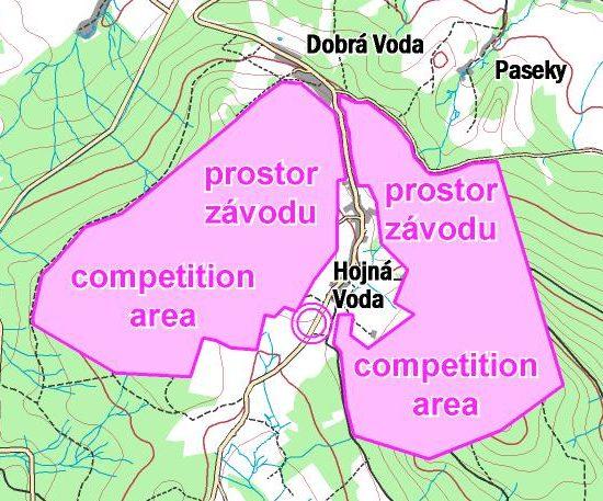 Mapka závodního prostoru převzatá z webu závodu.