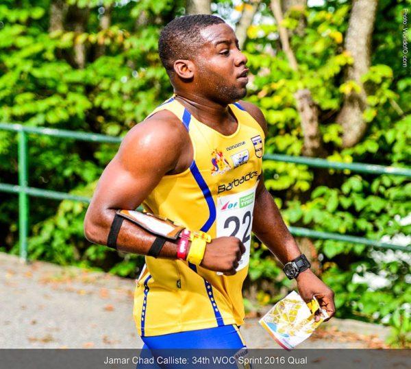 Chad Calliste z Barbadosu při sprintu MS 2016 ve Švédsku. (Foto: Jan Kocbach, WorldofO.com)