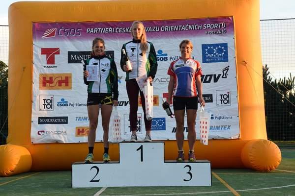 Nejlepší ženy na brněnském sprintu Českého poháru, 17.9.2016. (Foto: Anna Auermüllerová/O-news.cz).