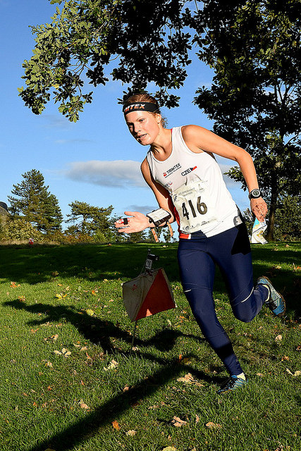 Klára Novotná na trati sprintu JEC 2016 (Foto: Crawford Lindsay)