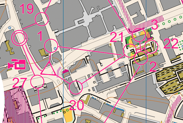 Ukázka mapy sprintu mužů.