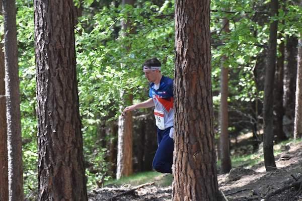 Daniel Hájek bojuje na klasické trati ME 2016 (Foto: Anna Auermüllerová/O-news.cz).