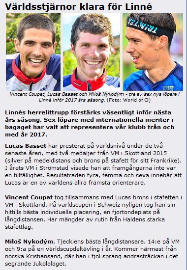 OK Linné informuje o přestupech na svém webu. (Zdroj: http://www.oklinne.nu)