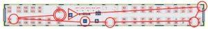 Mapa štafet ve vlaku (fcb Jana Schulhofa)