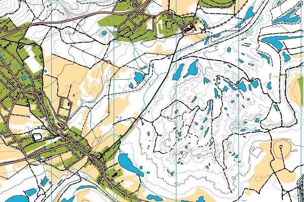 Ukázka mapy nedělního závodu.